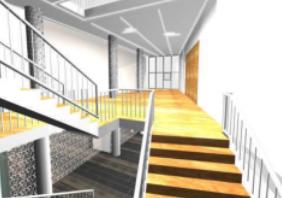 Entwurf Neugestaltung Foyer, Veranstaltungsgebäude