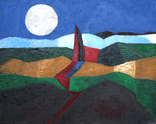 2012 Mond über Bayern