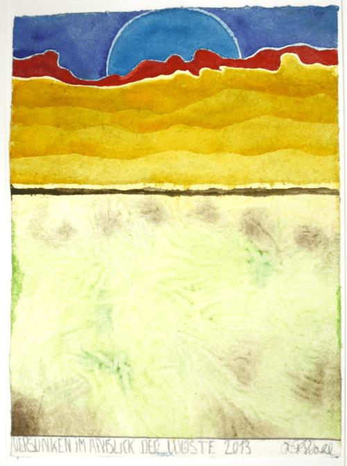 2013 Versunken im Anblick der Wüste